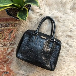 Kate Spade Black Snake Embossed Leather Bag